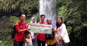 Wisata Air Terjun Lombok Bapak Agus Dan Keluarga