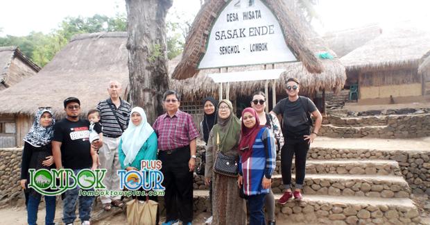 Wisata Bapak Mohd Amin dan keluarga di Desa Ende