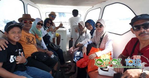 Perjalanan Wisata Bapak Ari Wibowo dan kerabat mengunjungi wisata gili Lombok