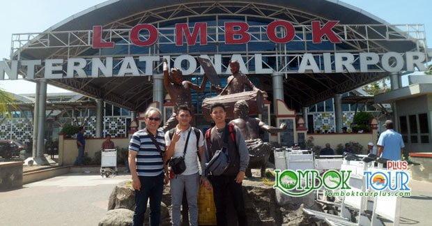 Kedatangan bapak Andy dan sahabat di Lombok