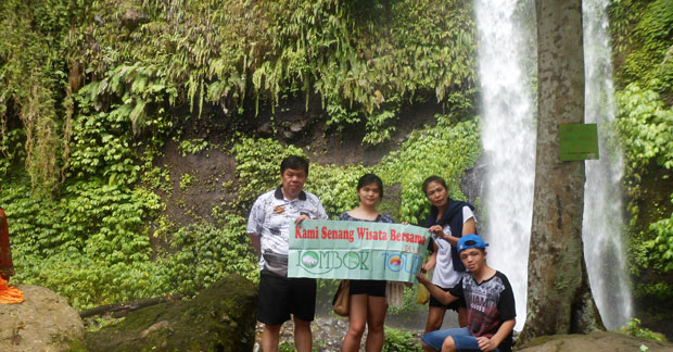 wisata air terjun Sendang Gile Lombok