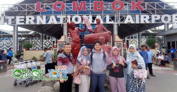 Keluarga Bapak Utama tiba di Lombok