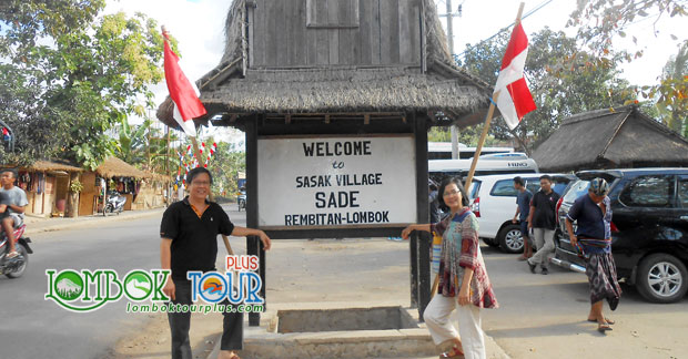 Mengunjungi wisata desa sade Lombok