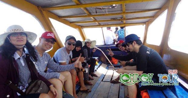 Wisata Bapak Arien Ginanjar dan Keluarga Menuju Gili Trawangan
