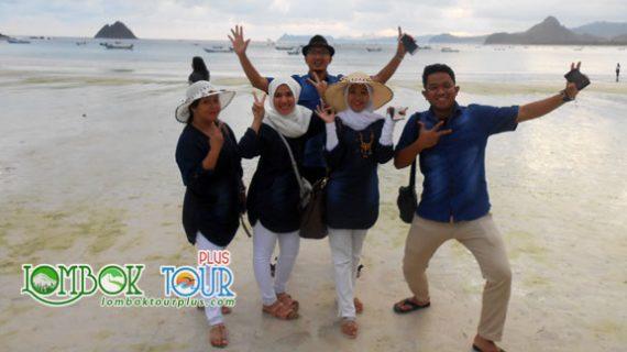 Kecerian Wisata Bapak Varian dan Keluarga di Lombok
