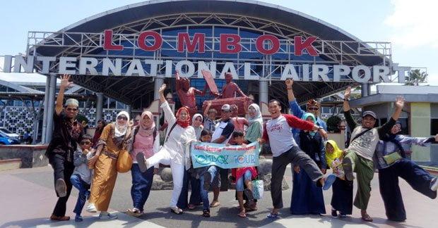 Kedatangan Bapak Asep dan Keluarga di Lombok