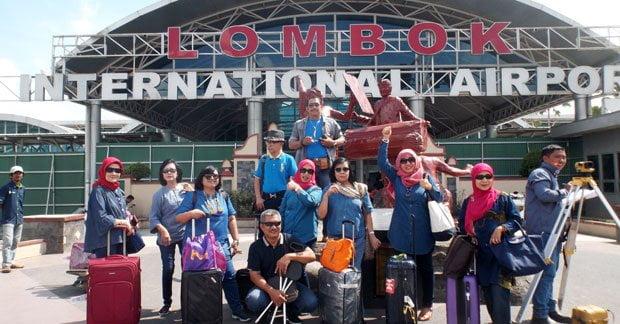 Kedatangan Ibu Nita Bersama Sahabat di Lombok