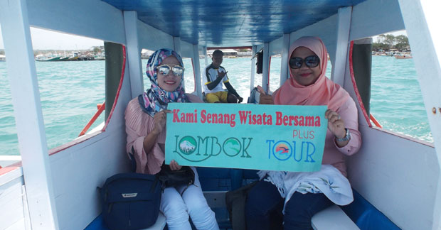 Serunya wisata Ibu Amel dan Sahabat di Lombok