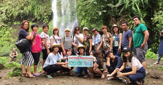 Wisata seru di air terjun Lombok