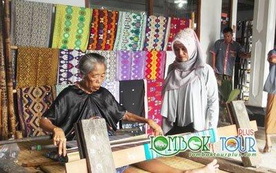 Pembuatan Kain Tenun Khas Lombok